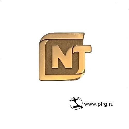 Золотой корпоративный значок-логотип NT