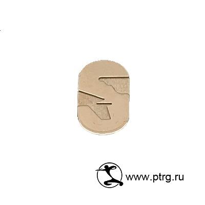 Золотой корпоративный значок-логотип S